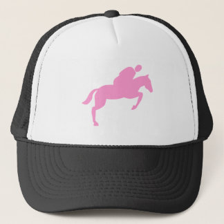 Horse Jumping - Pink Trucker Hat
