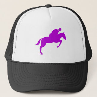 Horse Jumping - Purple Trucker Hat