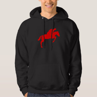 Horse Jumping - Red Hoodie