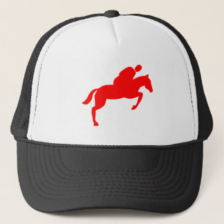Horse Jumping - Red Trucker Hat