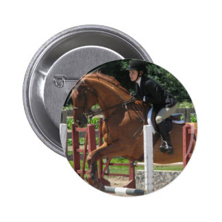 Horse Jumping Round Button
