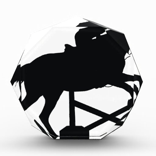 Horse Jumping Silhouette Award