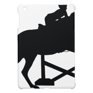 Horse Jumping Silhouette iPad Mini Cover
