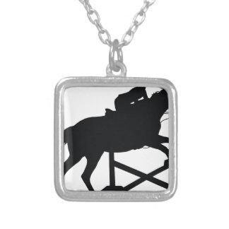 Horse Jumping Silhouette Pendants