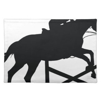 Horse Jumping Silhouette Placemat