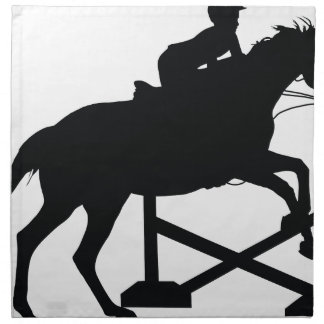 Horse Jumping Silhouette Printed Napkin