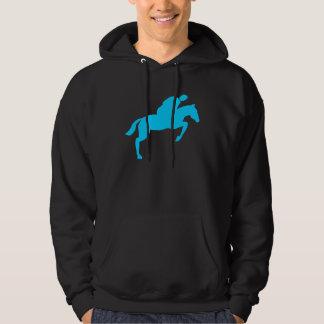 Horse Jumping - Sky Blue Hoodie
