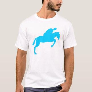 Horse Jumping - Sky Blue T-Shirt