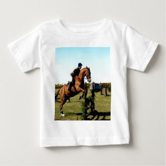 horse jumping to goal overcome difficulty t shirt