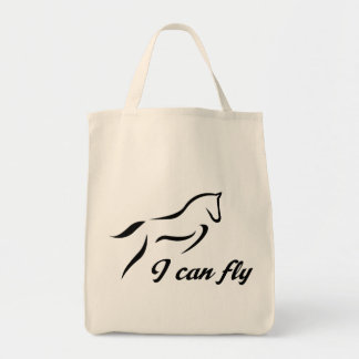 horse jumping tote bag