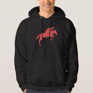 Horse Jumping - Tropical Pink Hoodie