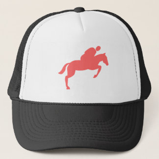 Horse Jumping - Tropical Pink Trucker Hat