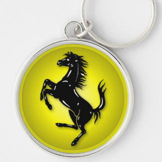 Horse Keyring Round Silver-Colored Round Keychain