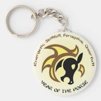 Horse Keys Basic Round Button Keychain