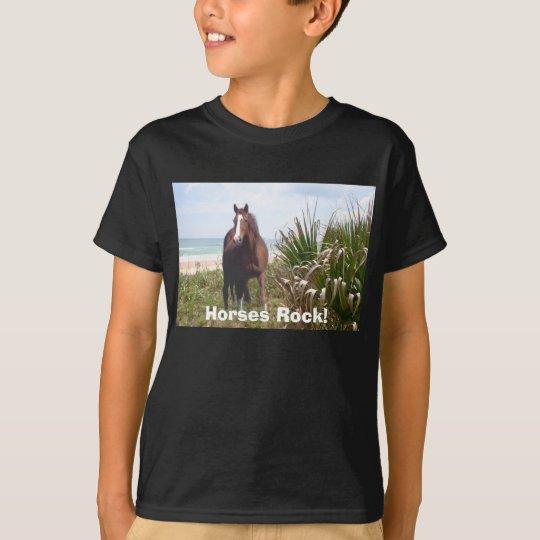 Horse Kids T-Shirt Beach