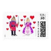 Horse King and Queen of Hearts Postage