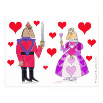 Horse King and Queen of Hearts Postcard