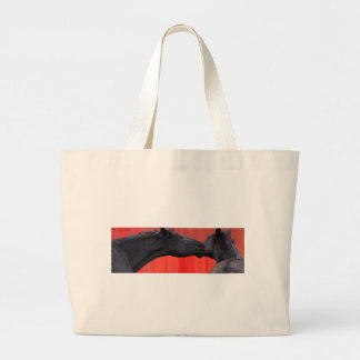 Horse Kiss Large Tote Bag