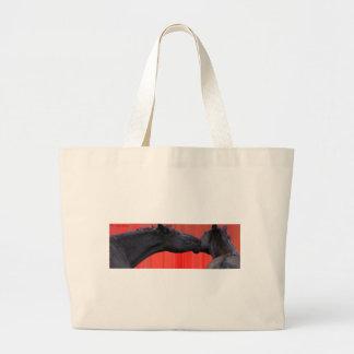 Horse Kiss Large Tote Bag