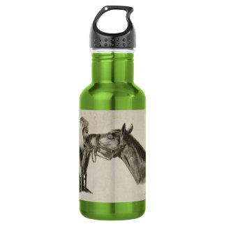 Horse Kisses Artwork 18oz Water Bottle
