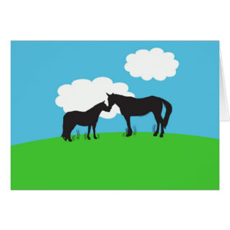 Horse Kisses Card