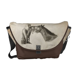 Horse Kisses Courier Bag