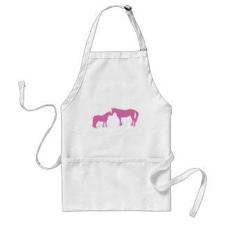 Horse Kisses (Dk. Pink) Apron