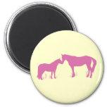 Horse Kisses (Dk. Pink) Magnets