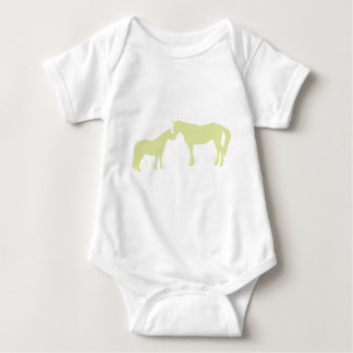 Horse Kisses (Green) Baby Bodysuit