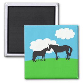 Horse Kisses Magnet