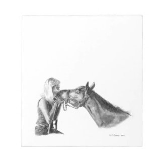 Horse Kisses Note Pad