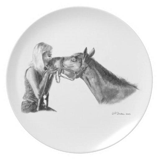 Horse Kisses Plate