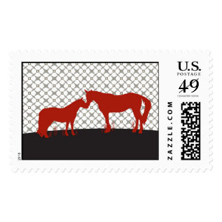 Horse Kisses (Red) Postage