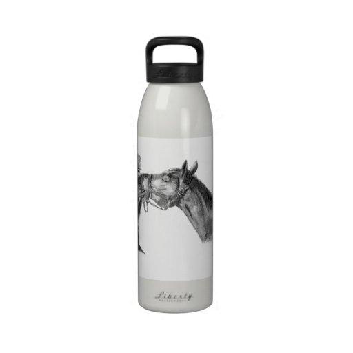Horse Kisses Reusable Water Bottle