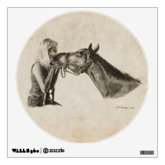 Horse Kisses Wall Graphic