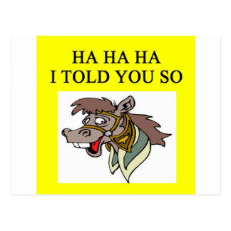 horse laigh i told you so postcard