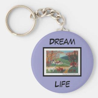Horse Landscape Basic Round Button Keychain