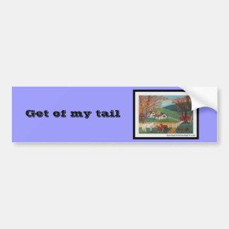 Horse Landscape Car Bumper Sticker