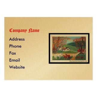 Horse Landscape Large Business Card