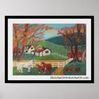 Horse Landscape Poster