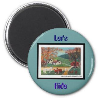 Horse Landscape Refrigerator Magnet