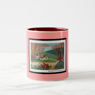 Horse Landscape Two-Tone Coffee Mug