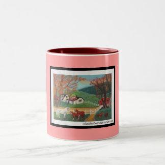 Horse Landscape Two-Tone Coffee Mug