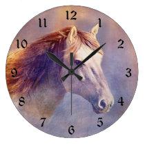 Horse Large Clock