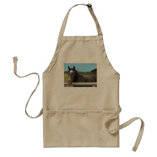 Horse Laughing Adult Apron