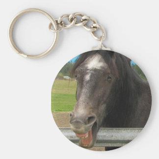 Horse Laughing Keychain