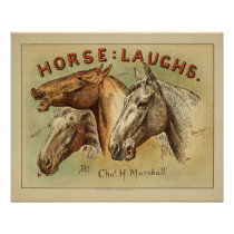 Horse Laughs Vintage Color Cover Art Print