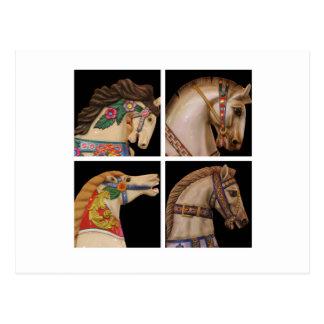 Horse Layout Postcard