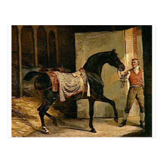 Horse leaving a Stable by Theodore Gericault Postcard