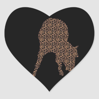 Horse Leopard On Black Silhouette Sticker